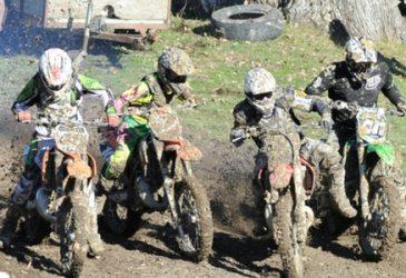 motocross racers get ready to start a race in Gisborne