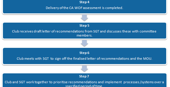 graphic detailing the 10 steps of the Sport Gisborne Club Assist Programme
