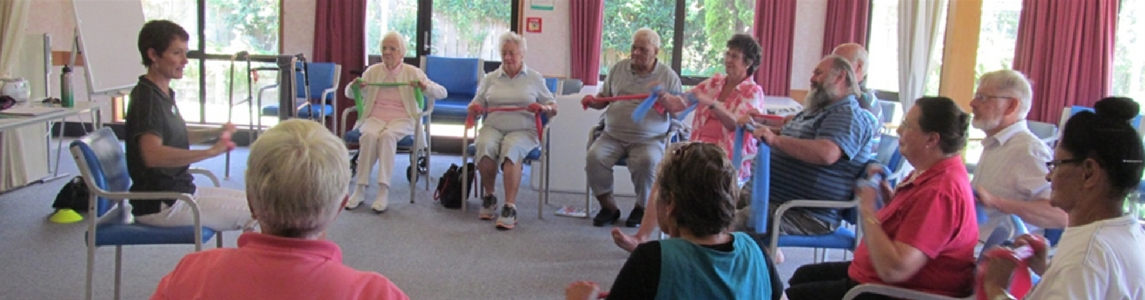 toni Hoskin teaches older people to reduce their falls risk