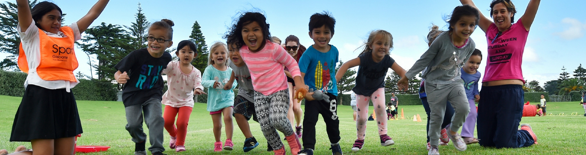 Children from a Gisborne Early Childhood Center playing
