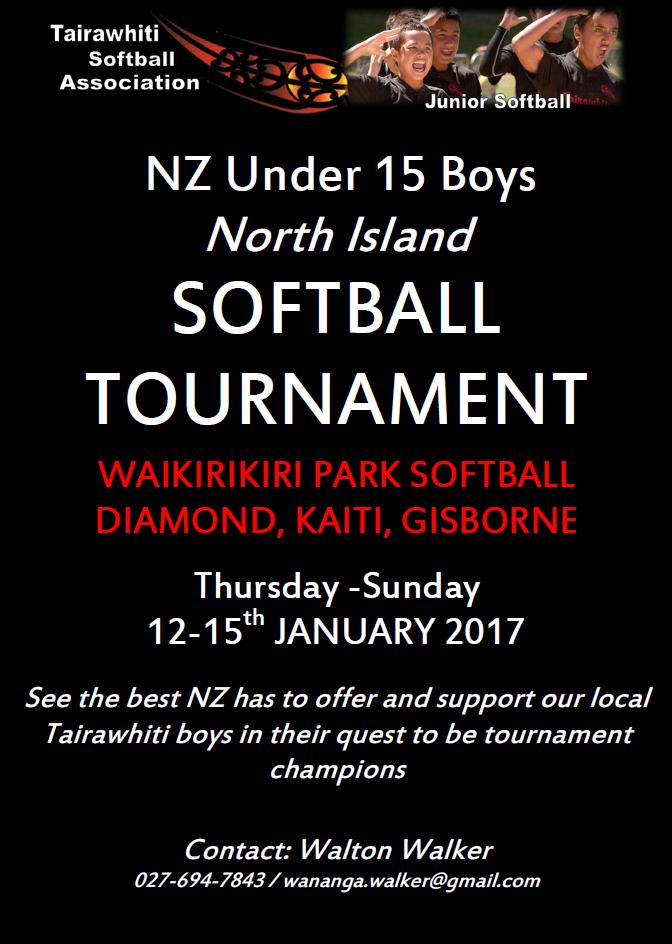 Softball U15 North Island Champs poster